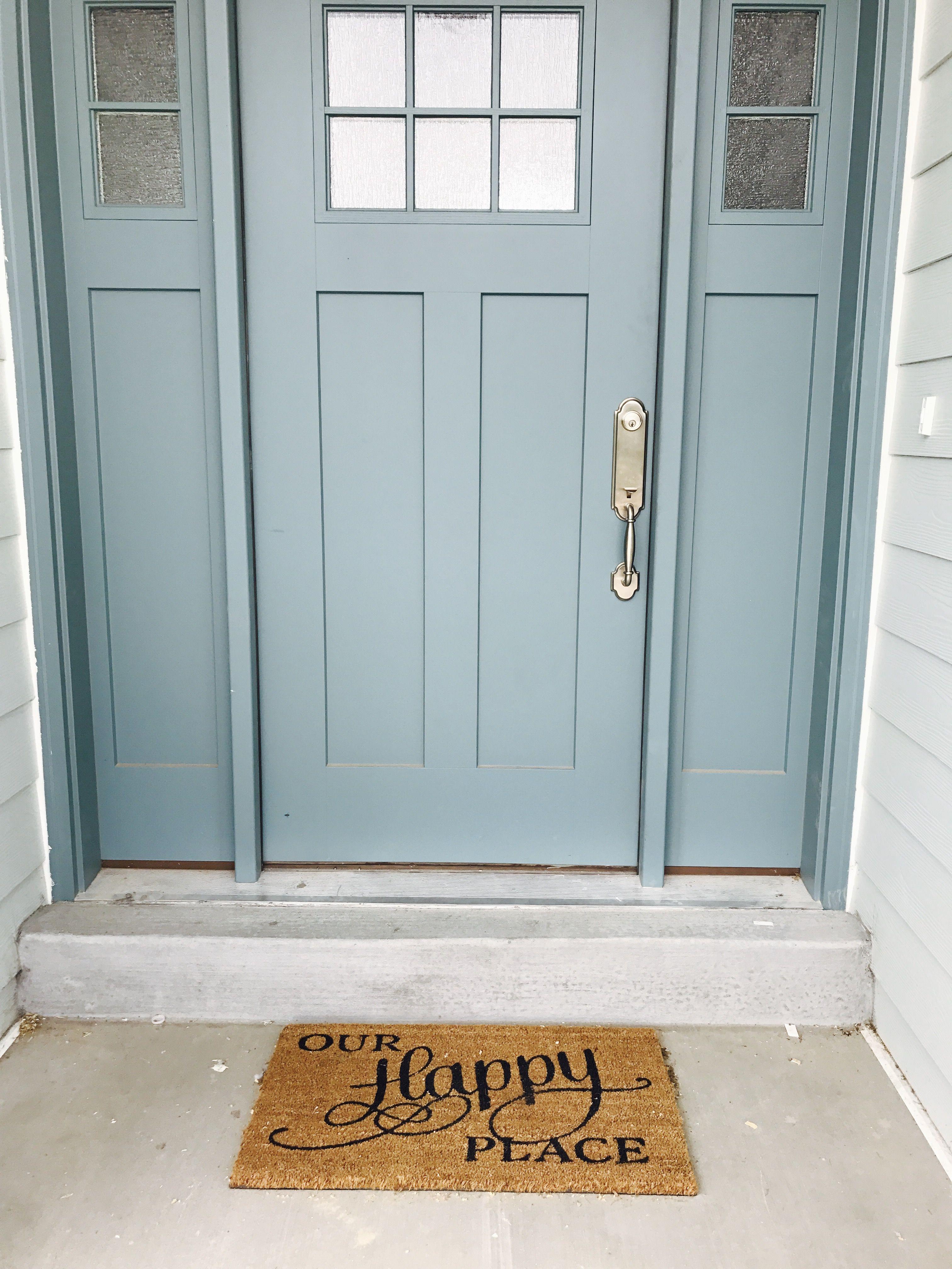 this craftman door color is aegean teal by sherwin williams front door blue door it has side. Black Bedroom Furniture Sets. Home Design Ideas