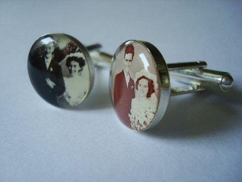 Gemelos genealógicos personalizados para bodas.