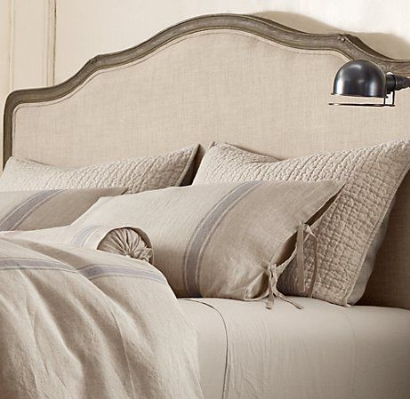 this bedding >> belgian linen provence stripe bedding in dune