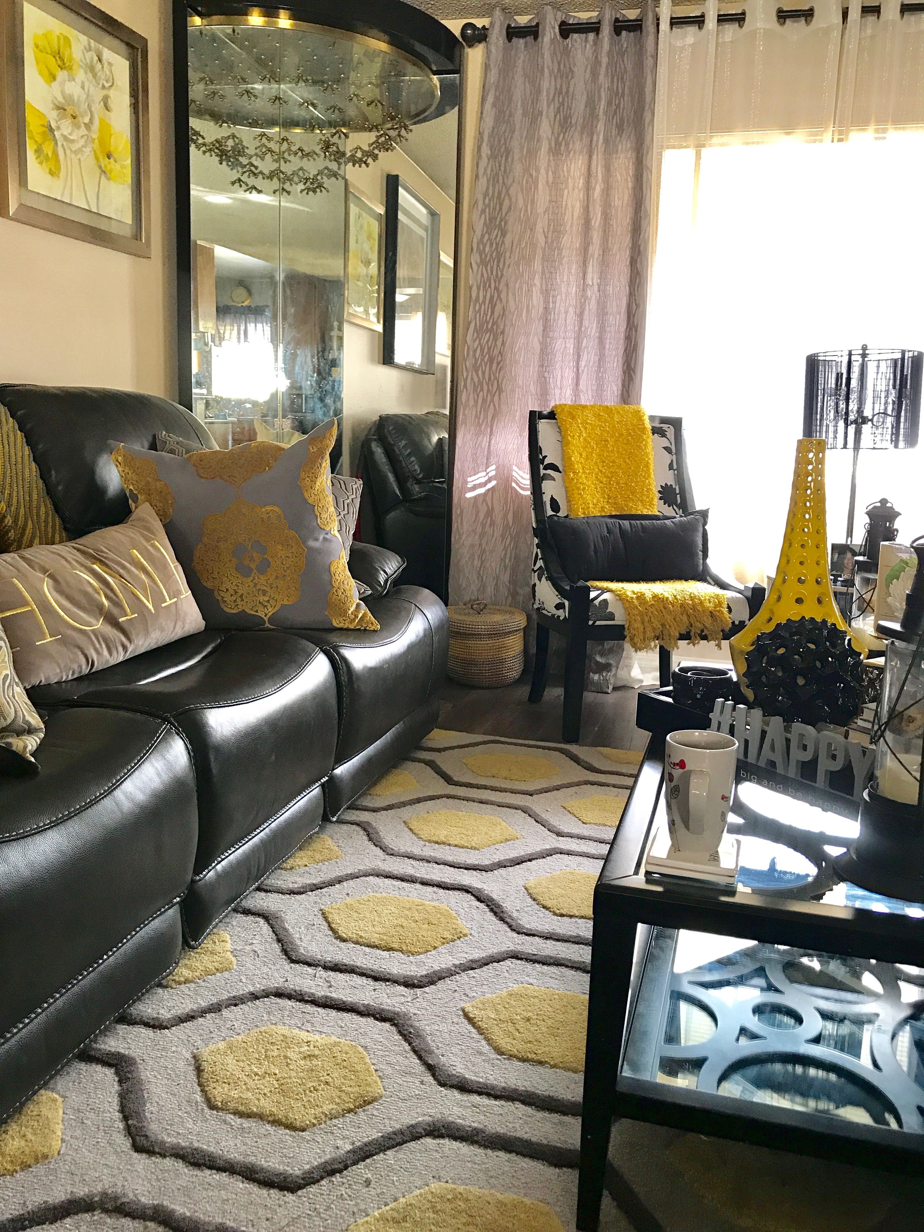 Pin By Gee Rob On Black Gray And Yellow Contemporary Living Room