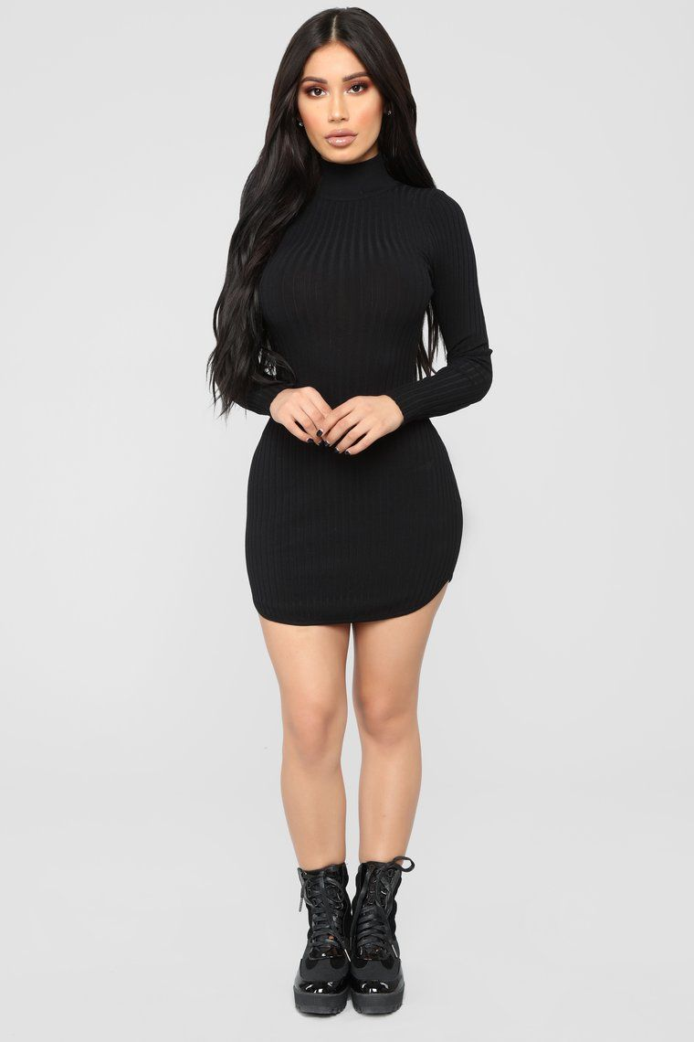 982bdce3946 Chrystal Sweater Dress - Black