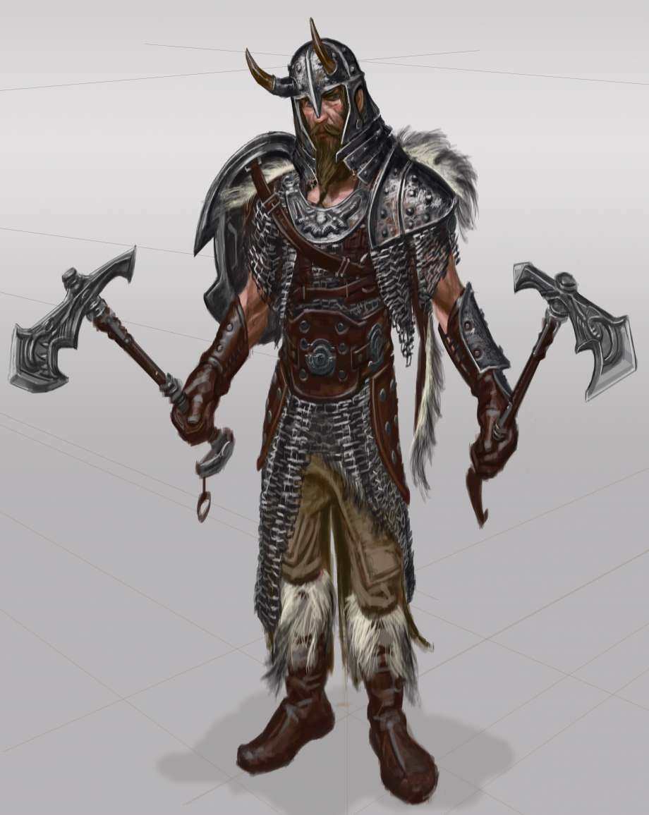 Concept Art For Skyrim Armor
