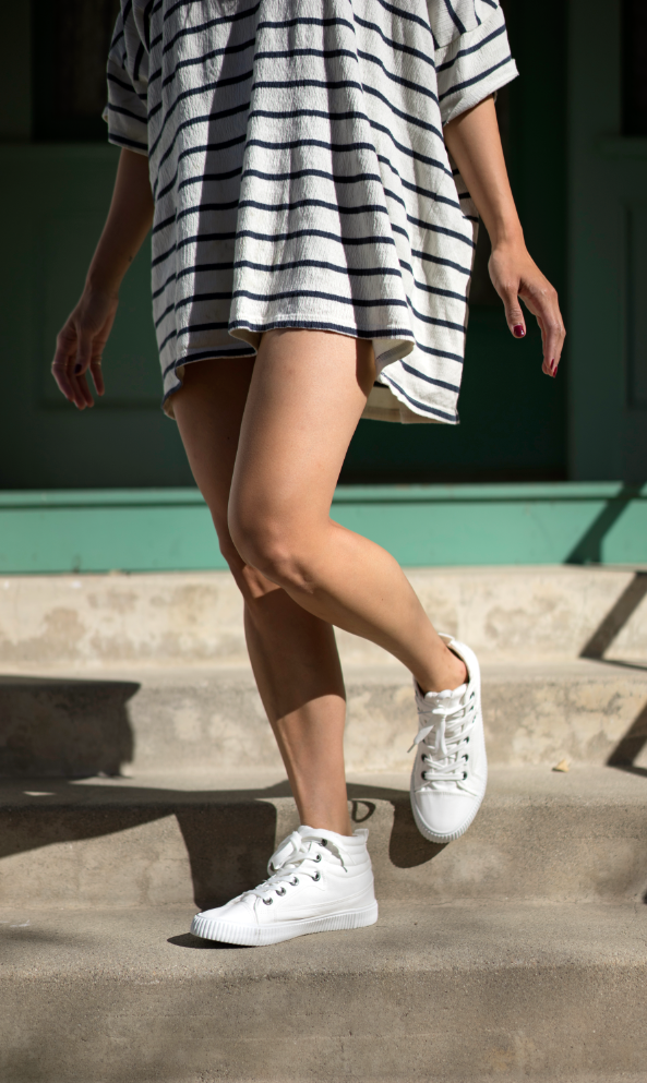 afacff46743 White high-top sneaker by Blowfish Shoes