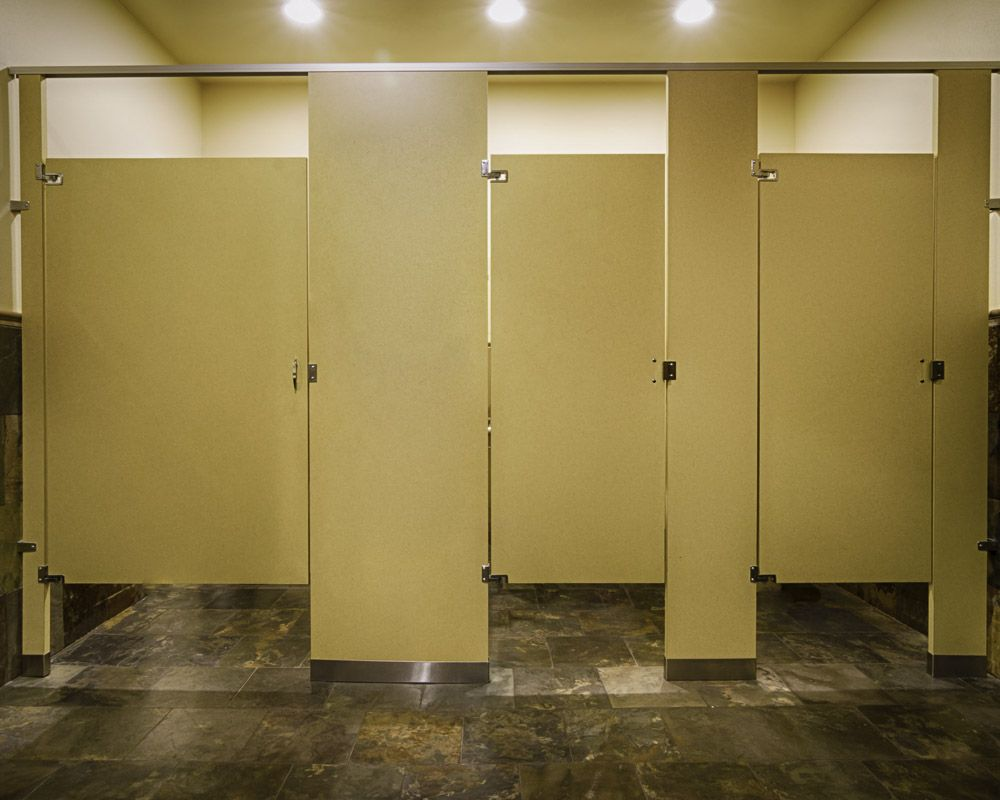 Ironwood manufacturing laminate toilet partitions and - Commercial bathroom partition doors ...