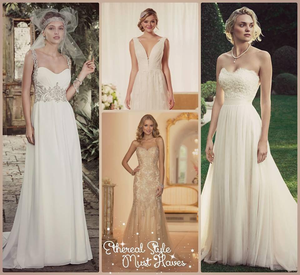 Ethereal Wedding Dresses Found At #WeddingInspirationsBridalBoutique  Located In Asheville NC #AshevilleNC #Boho #
