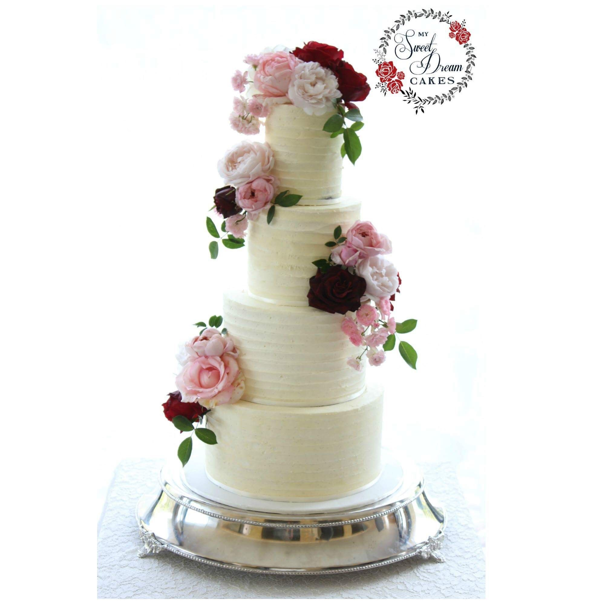Buttercream Beauty With Fresh Florals By My Sweet Dream Cakes Perth