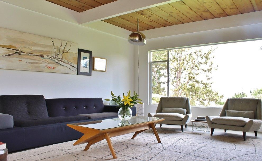 midcentury living room by dufner heighes inc mid century modern