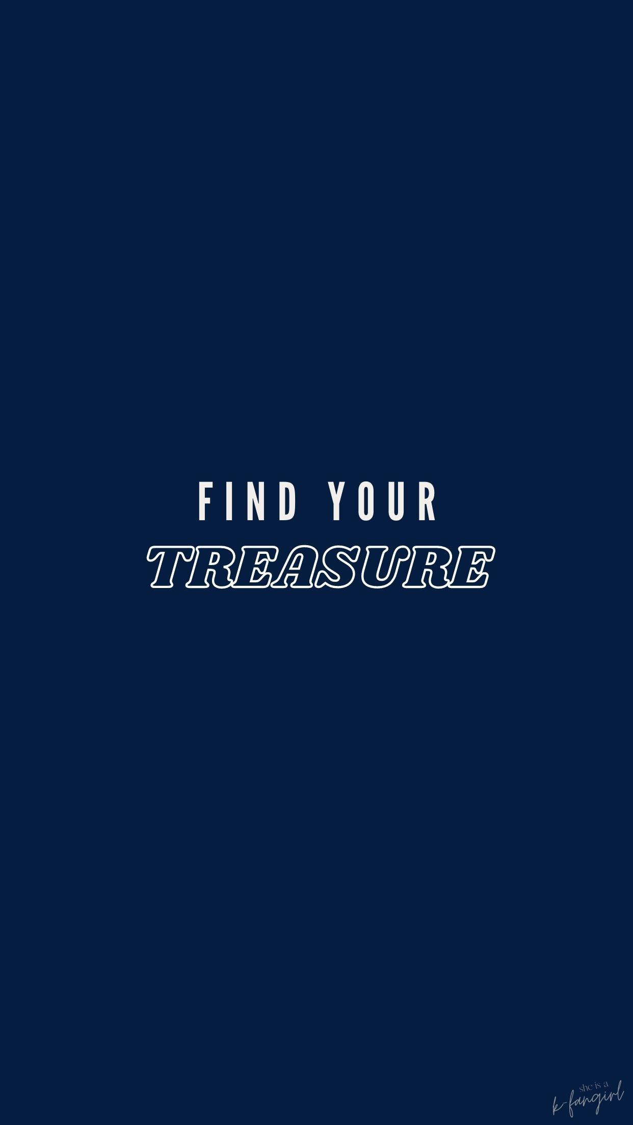Treasure Lockscreen Blue Ver Treasures Finding Yourself Treasure Maps