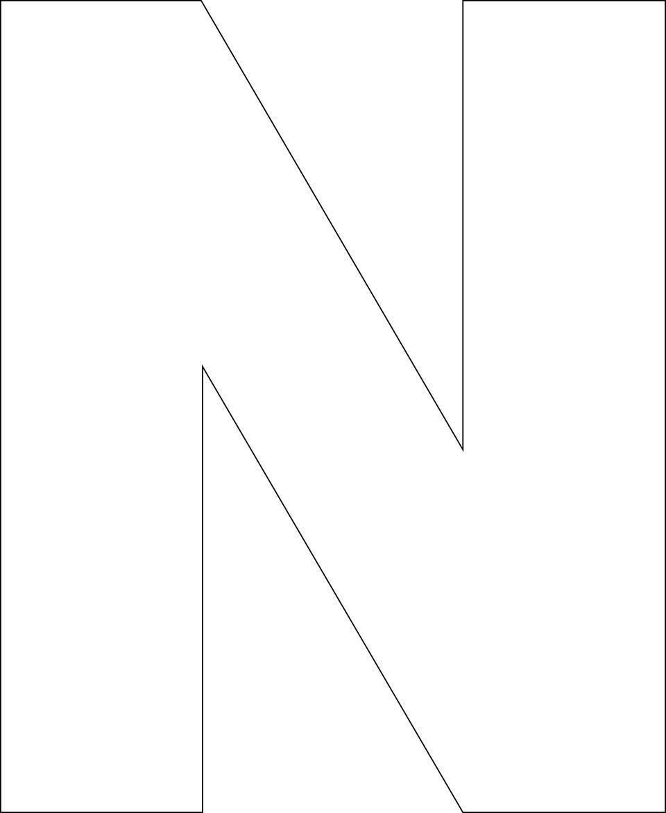 Free Printable Upper Case Alphabet Template Alphabet Templates Alphabet Letter Templates Free Printable Letter Stencils