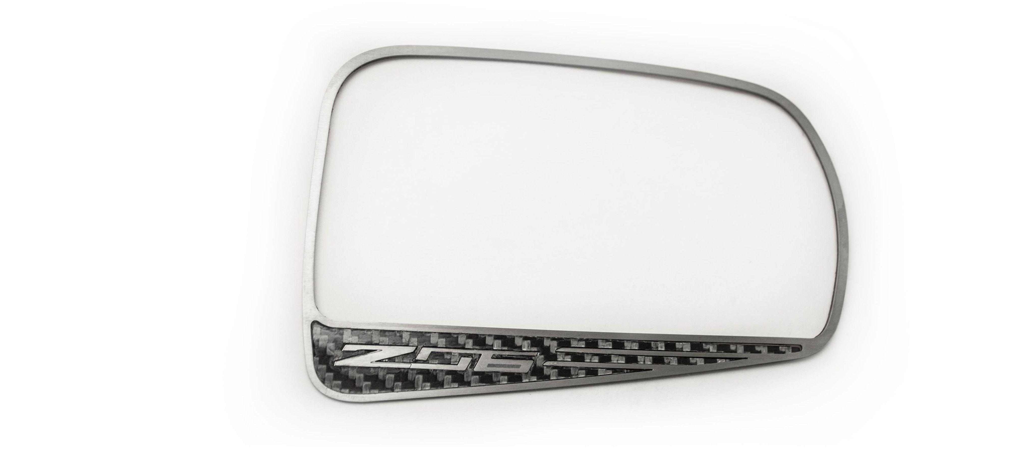 2015-2017 Corvette C7 Z06 - Carbon Fiber Side View Mirror Trim