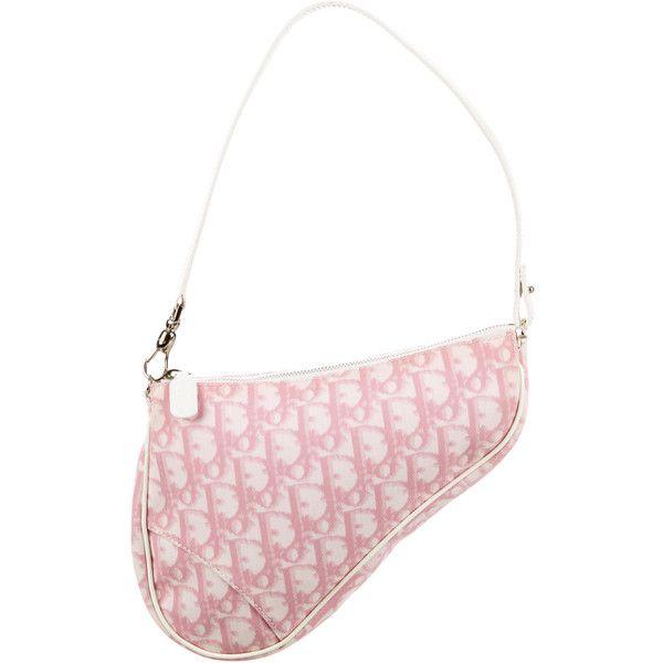 7312096e01e Pre-owned Christian Dior Diorissimo Saddle Bag ( 195) ❤ liked on Polyvore  featuring bags