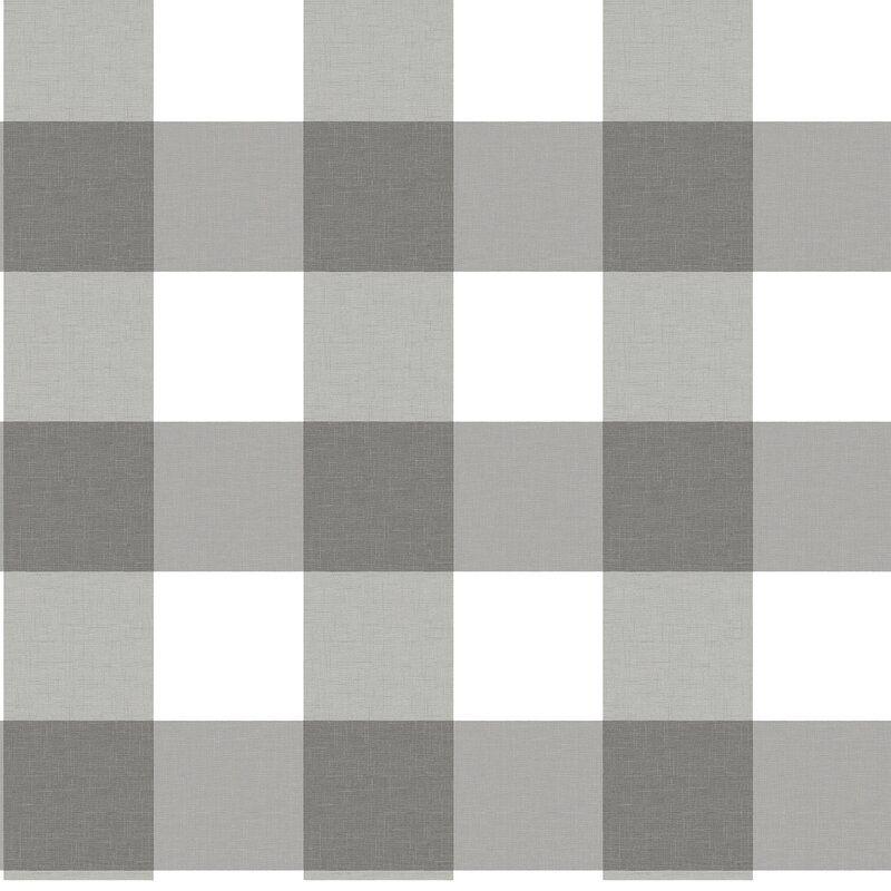 Sessions 16 5 L X 20 5 W Peel And Stick Wallpaper Roll In 2021 Plaid Wallpaper Grey Plaid Wallpaper Peel And Stick Wallpaper