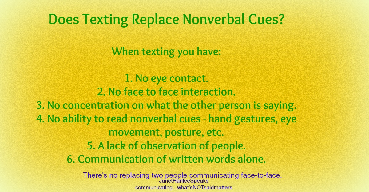 Is texting nonverbal communication