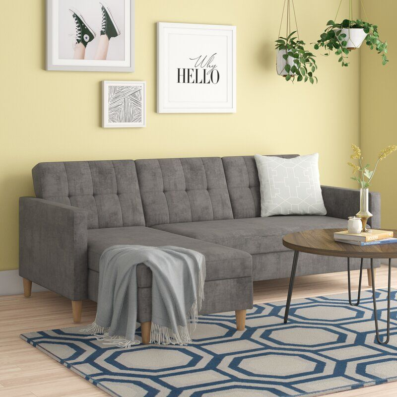 Kayden 84 Reversible Sleeper Sectional In 2020 Home Decor Seating Arrangements Sleeper Sectional