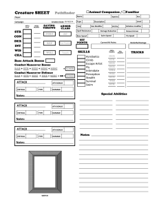 photograph relating to Pathfinder Character Sheets Printable identify Animal Lover / Acquainted Personality Sheets For