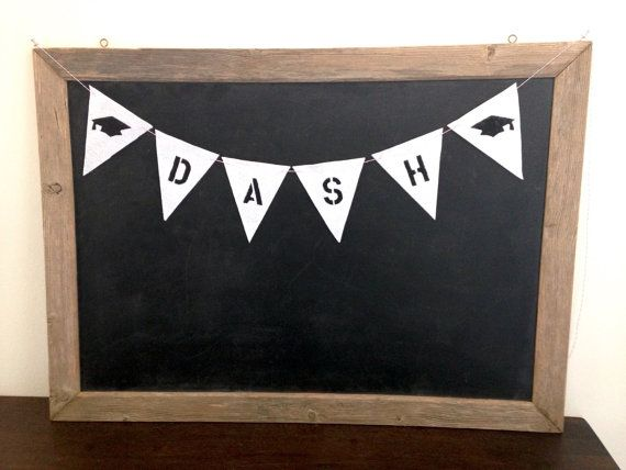 Custom Name Graduation Sign Felt Banner Bunting by SweetThymes