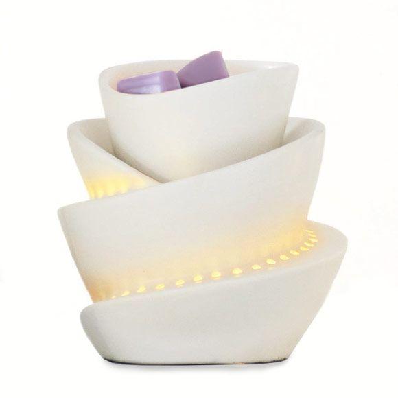 scentglow elektrische duftlampe spirale von partylite details glasierte keramik h 11 cm. Black Bedroom Furniture Sets. Home Design Ideas
