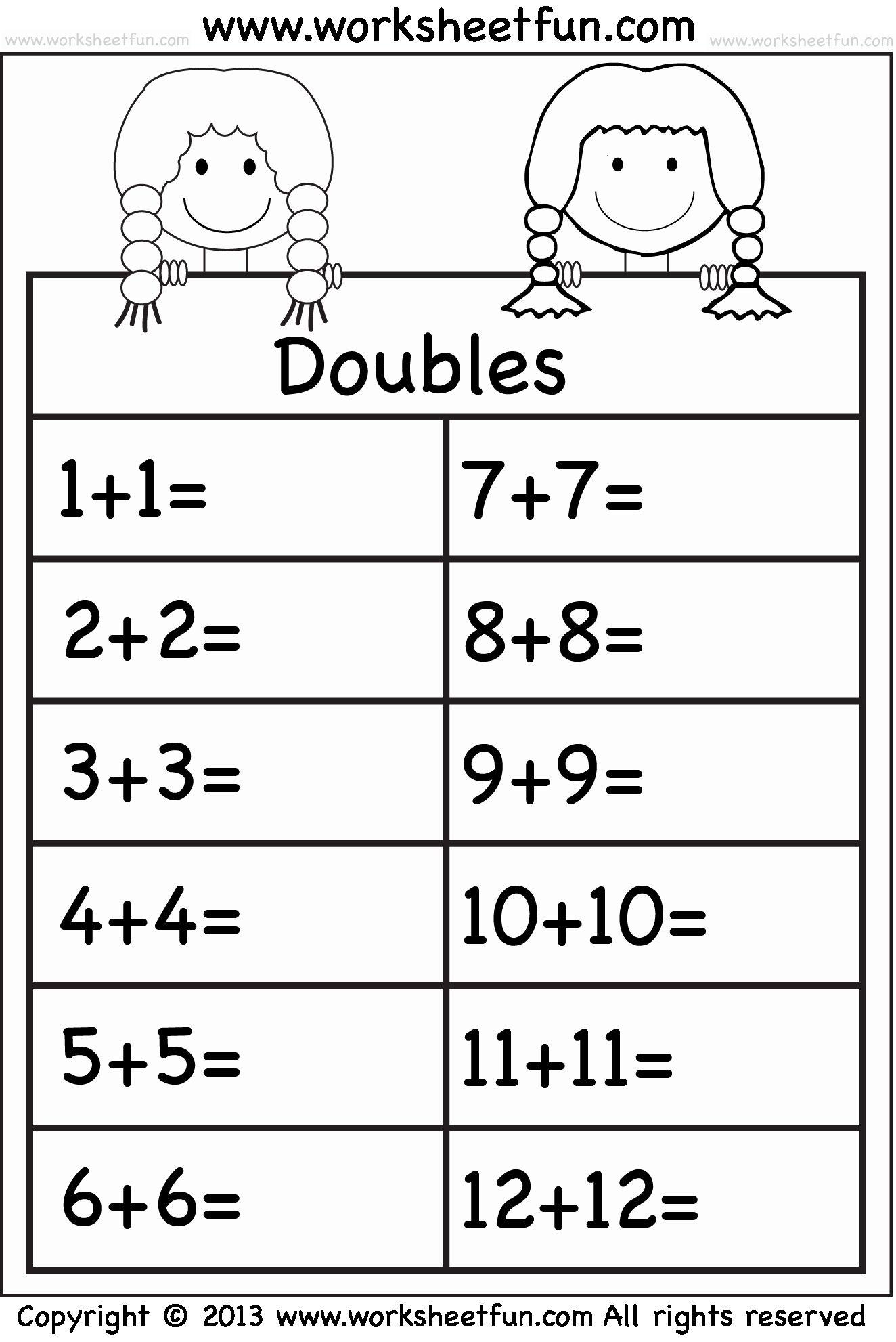 Addition Worksheets 1 10 Kindergarten In