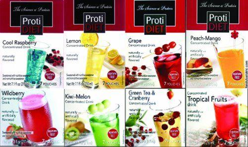 Proti Diet Drink Concentrate New Variety Package Cool Raspberry Lemon Orange Grape Tropical Diet Drinks Diet Mango Drinks