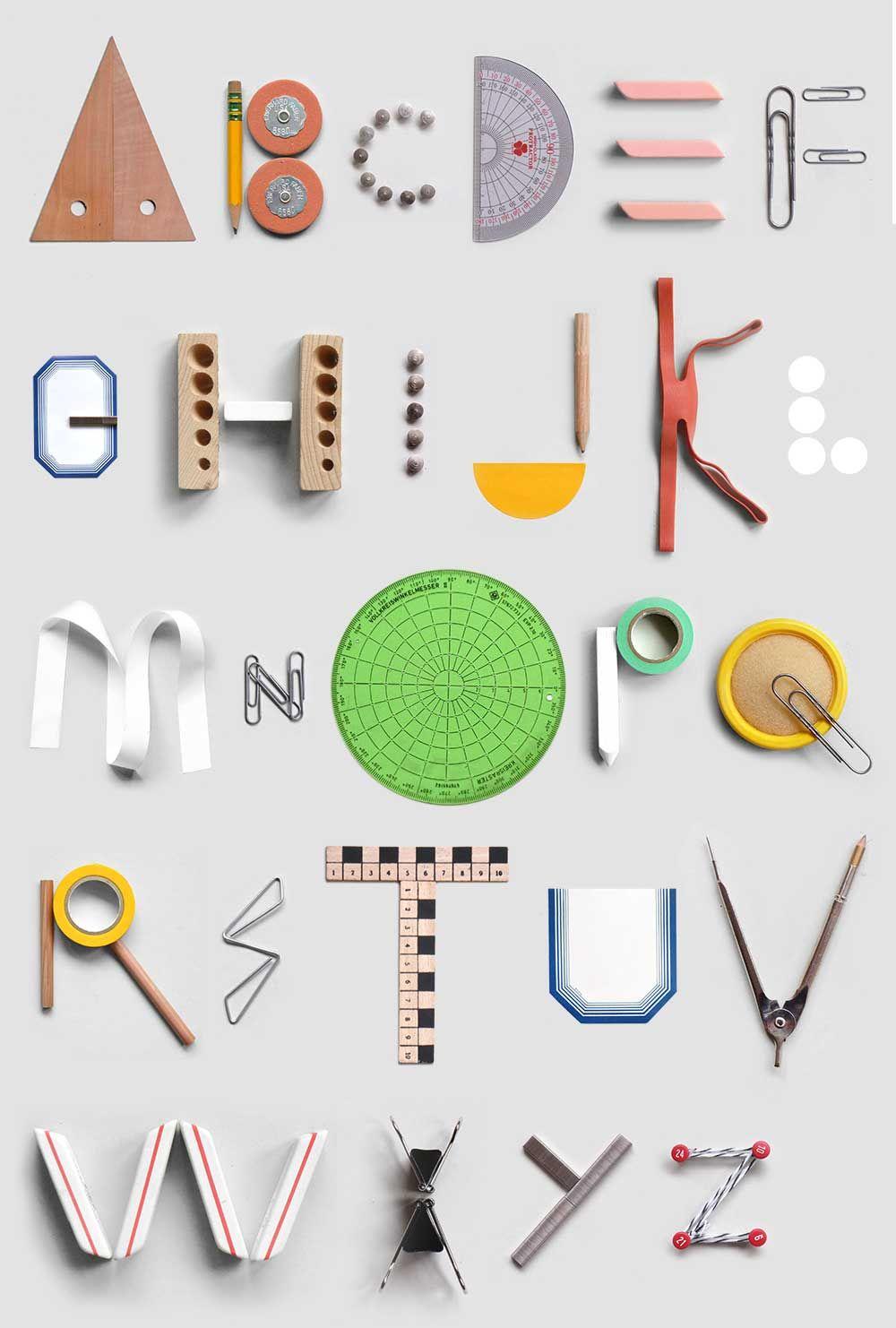 Present Correct Office Sundries For The Modern Workspace Alphabet Typographique Abecedaire Typographie Art Deco