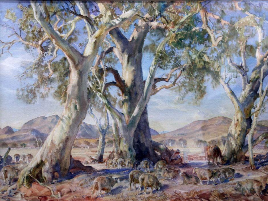 Hans Heysen's The Camp at Wononka Creek Australian