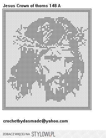 szydełko / filet / Jezus na Stylowi.pl   crochet   Pinterest ...