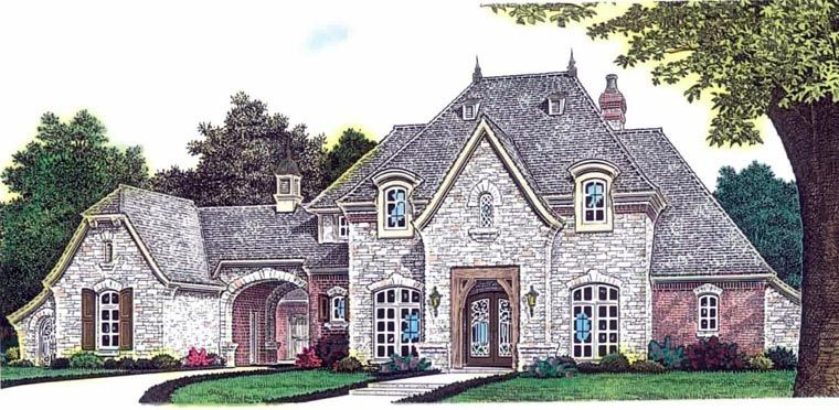 French Country Style House Plan 92230 With 3 Bed , 3 Bath