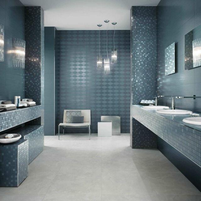 Carrelage de salle de bains: 57 idées pour les murs et le sol | Mur ...