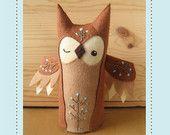 Olaf Owl plush PDF pattern