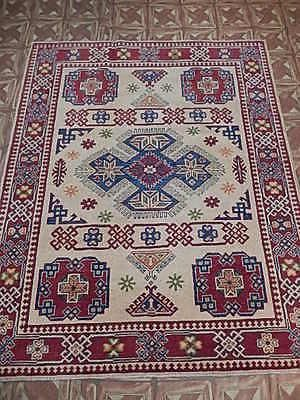 5 X 6 Kazak Antique Reproduction Elegant Laundry Room Handmade Area Rug This Original Home Decor Floor Co 5x7 Area Rug Carpet Handmade Carpets Area Rugs