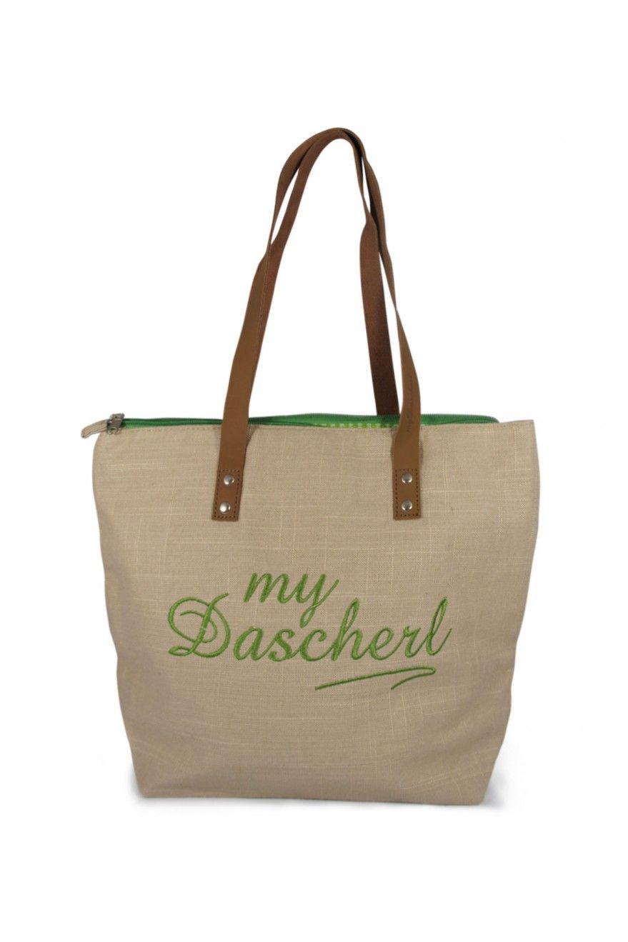 My Dascherl mit grüner Schrift - die besondere Trachtentasche aus ...