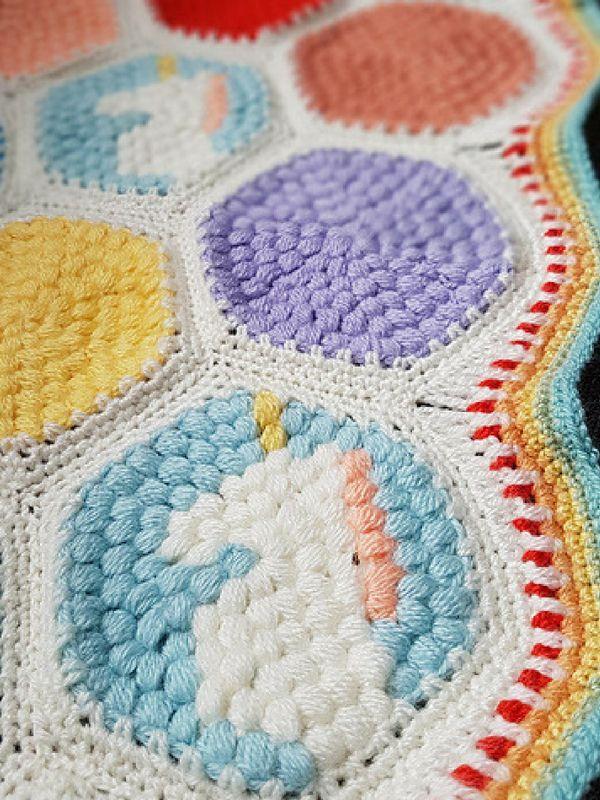 Hexipuff Unicorn Blanket Free Crochet Pattern | Crochet ...