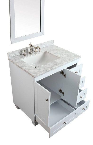 Eviva EVVN69-30WH Acclaim C 30 Inch Transitional White Bathroom