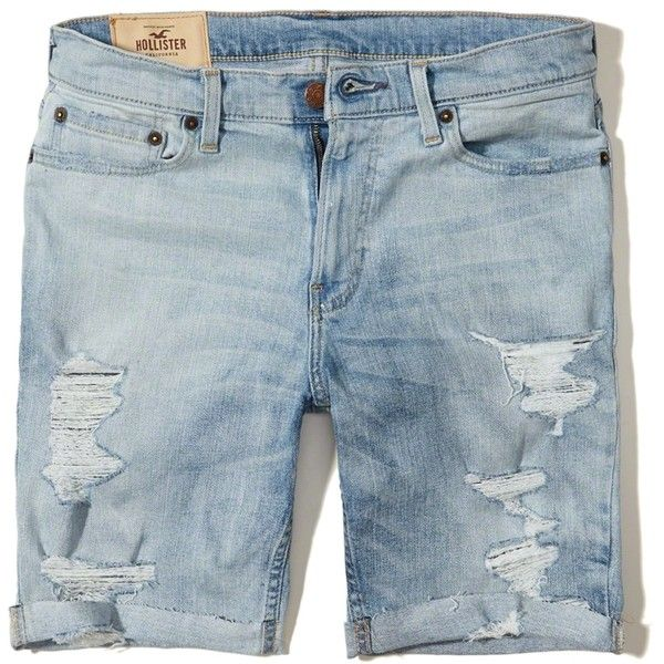 f010c06b43 Hollister Classic Fit Denim Shorts ($16) ❤ liked on Polyvore ...