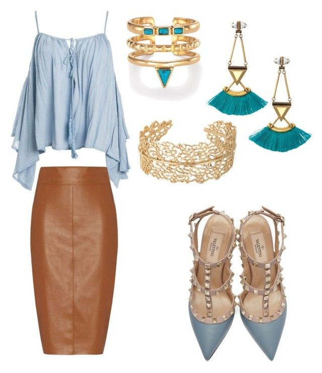"""""""rock it girl"""" by gosiawillemse on Polyvore featuring Sans Souci, Valentino, Bailey 44, Stella & Dot, women's clothing, women, female, woman, misses and juniors"""