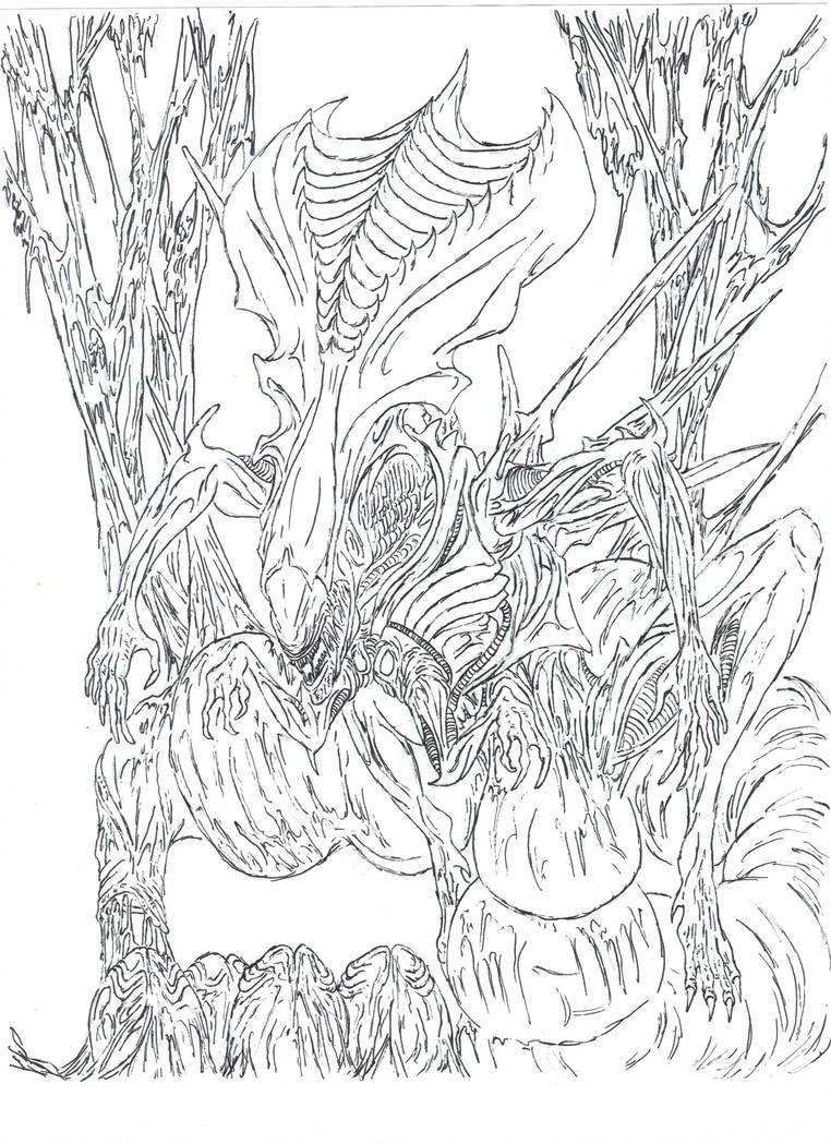 Alien Queen By Wretchedspawn2012 Alien Queen Alien Artists Like