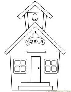 440 Top Colouring Pages Of School Building  Images