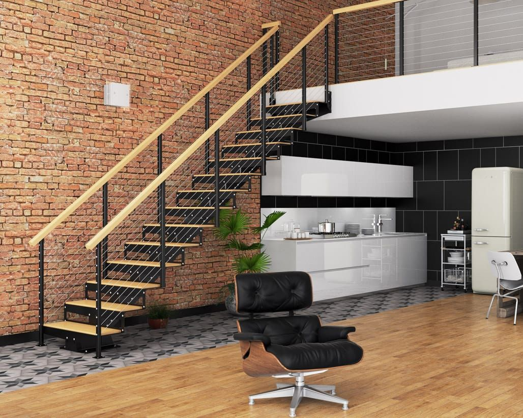 Best The Deluxe Easily Assembled Straight Stairs Straight 400 x 300