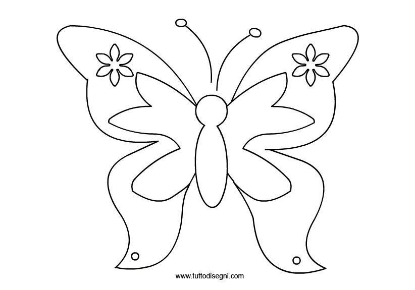 Farfalla Da Colorare Farfalla Stilizzata Da Colorare Tutto