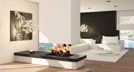 chimeneas modernas diseo chimeneas modernas Pinterest Fire