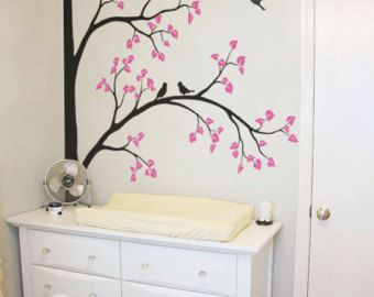 Large Tree Wall Decal Nursery Decoration Corner Sticker Mural Decals