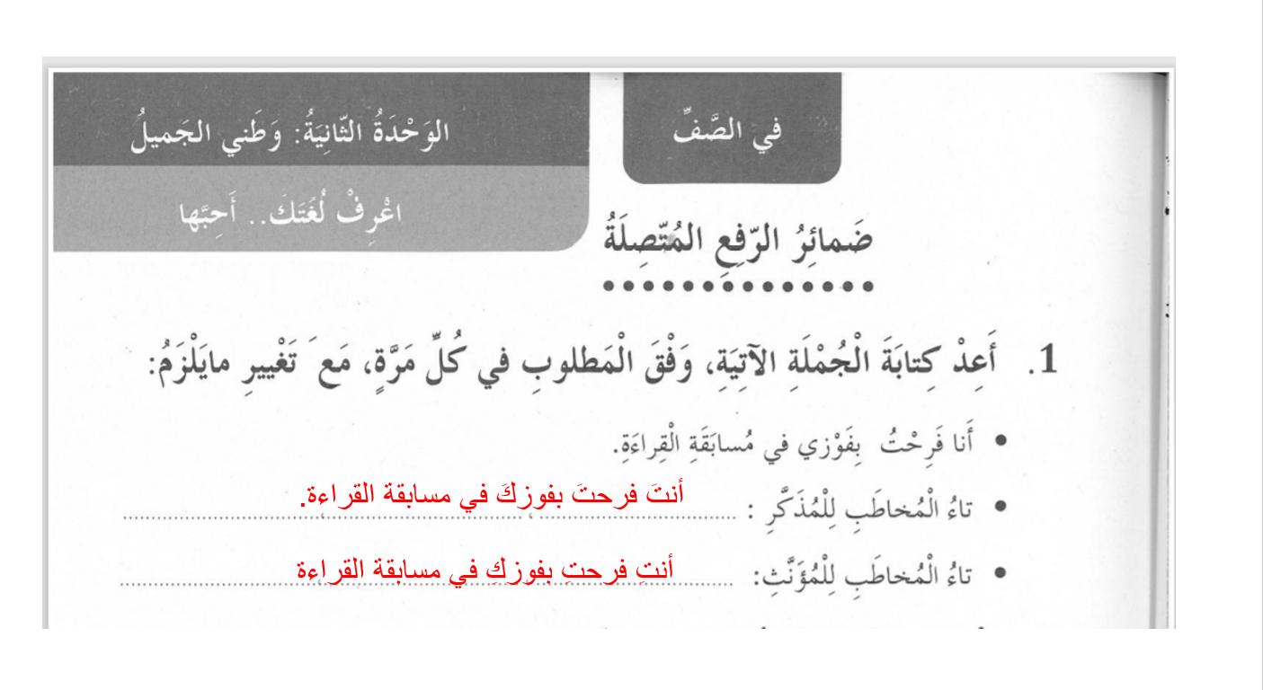 بوربوينت ضمائر الرفع المتصلة للصف الخامس مادة اللغة العربية Learn Arabic Online Learning Arabic Learning