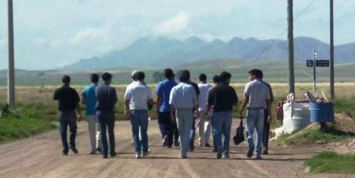 Seminaristas en acción en Pigüé. www.lasextaseccion.com.ar