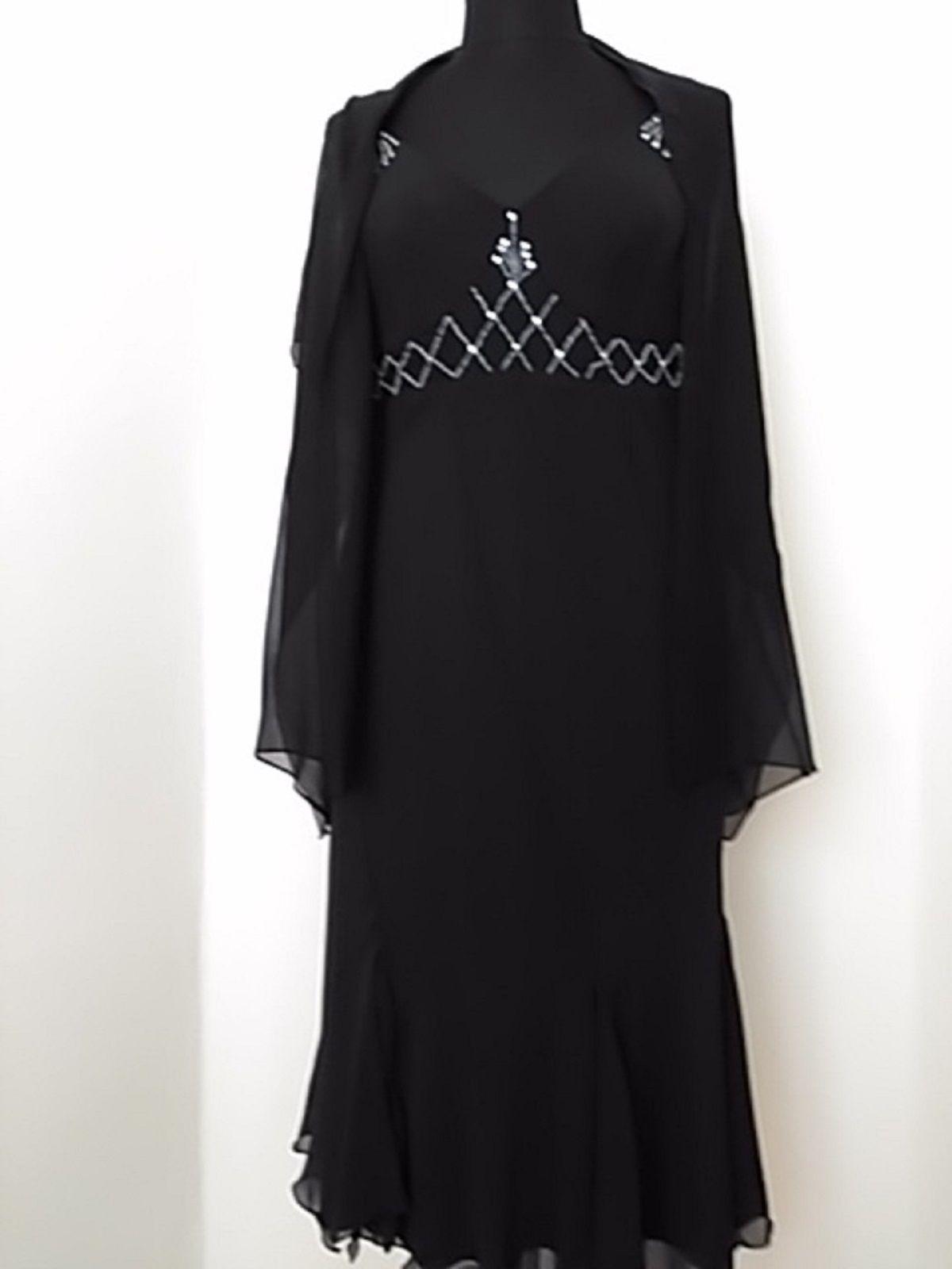 Black prom dress beaded dress flapper dress cocktail dress