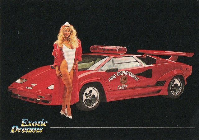 Debra with Countach (Fire Department)