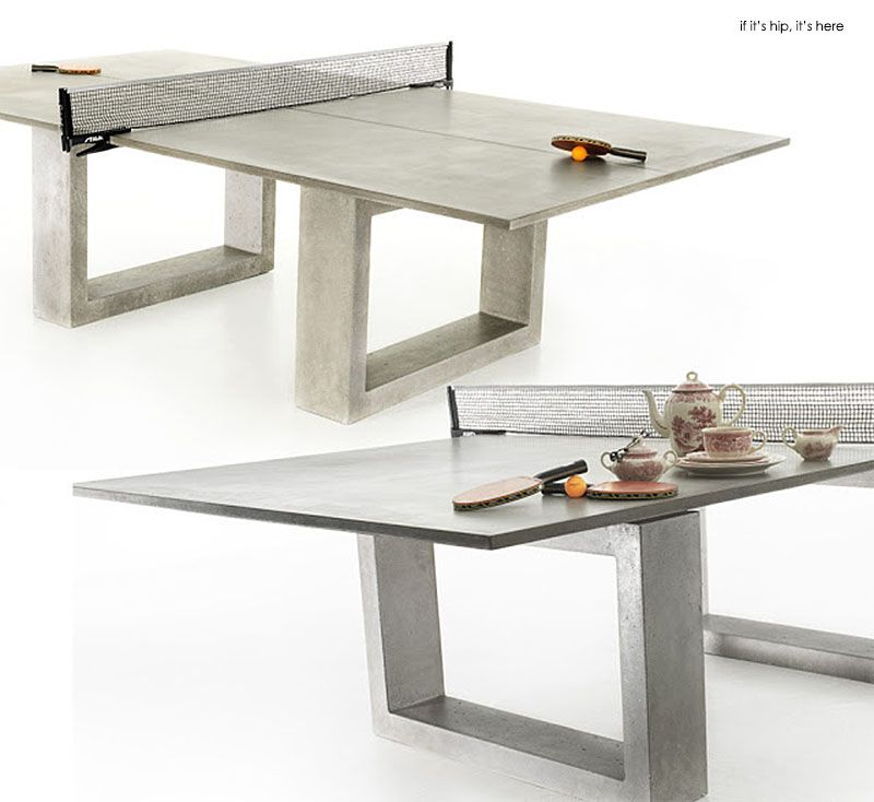 If Its Hip Here Archives Modern Concrete Steel Ping Pong Table Doubles As Indoor Outdoor Dining
