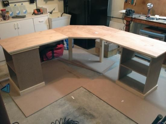 Custom Corner Desk With Drawers Pullout Keyboard And Shelves Diy Corner Desk Desk With Drawers Home Office Computer Desk