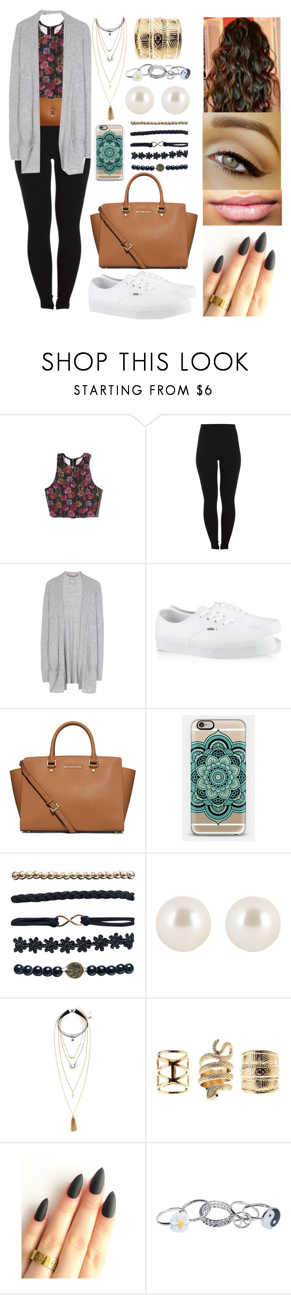 """."" by bshd ❤ liked on Polyvore featuring Abercrombie & Fitch, Pieces, Dear Cashmere, Vans, MICHAEL Michael Kors, Wet Seal, Henri Bendel, H&M and Charlotte Russe"