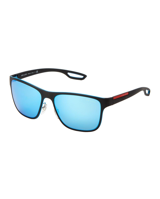 172a8ad78c Prada Sport SPS 56Q Black Square Sunglasses