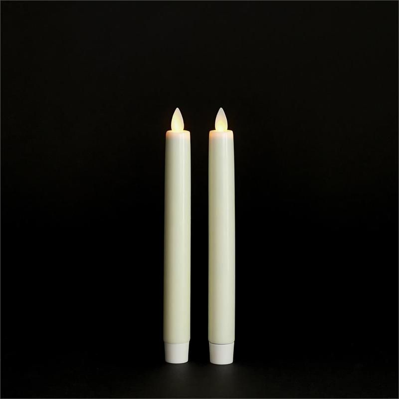 Bethlehem Lights Torchier Led Flameless 8 Taper Candles 2 Pack Ivory Wax Unscented